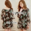 DR-LR-245 Lady Daria Beachy Blossom Print Chiffon Mini Dress thumbnail 1