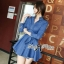 DR-LR-154 Lady Sarah Smart Casual Feminine Denim Shirt Dress thumbnail 9