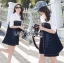Lady Alisa Smart Chic Embellished Cotton and Denim Shirt Dress L212-75C03 thumbnail 3