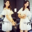 DR-LR-161 Lady Sophia Sweet Glam Organza Cotton Dress in White
