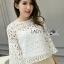 Lady Sophia Feminine Crochet Cropped Top L266-6917 thumbnail 6
