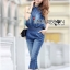 Lady Leslie Sleeveless Collar Studded Zippy Denim Jumpsuit L178-79C07 thumbnail 11