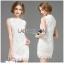 Lady Christine Little Daisy Embroidered White Lace Mini Dress L236-75C01 thumbnail 3