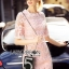 Lady Gabby Sweet Elegant Baby Pink Lace Dress L243-99C01 thumbnail 2