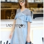 Lady Chrisele Studded Embroidered Frilled Polyester Mini Dress L257-85C05 thumbnail 5