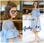 Lady Chrisele Studded Embroidered Frilled Polyester Mini Dress L257-85C05 thumbnail 7