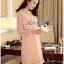 Lady Nara Classic Striped High-Neck Lace Dress L234-79C02 thumbnail 2