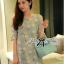 DR-LR-288 Lady Jenna Cut-Out Floral Print Baby Blue Flared Dress thumbnail 6