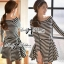 DR-LR-213 Lady Mandy Mixed Striped Easy Dress thumbnail 1