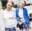 Lady Becca Smart Elegant High-Neck White Lace Blouse L254-69C02 thumbnail 5