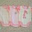 ไซส์ 6-9 เดือน บอดี้สูทเด็ก ลายยีราฟชมพู แพ็ค 3 ตัว