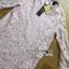 Lady Nara Classic Striped High-Neck Lace Dress L234-79C02 thumbnail 14