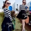 DR-LR-160 Lady Ballerina Stripe Black&White Mini Dress thumbnail 4