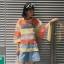 เสื้อผ้าฝ้ายใยสังเคราะห์ เล่นสีสลับสีผ้า thumbnail 1