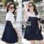 Lady Alisa Smart Chic Embellished Cotton and Denim Shirt Dress L212-75C03 thumbnail 6