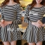 DR-LR-213 Lady Mandy Mixed Striped Easy Dress thumbnail 13