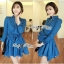 DR-LR-154 Lady Sarah Smart Casual Feminine Denim Shirt Dress thumbnail 11