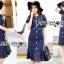 Lady Indigo Puff Sleeve Lace Dress L269-7905 thumbnail 6