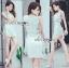 Lady Lucy Minimal Chic Metal Loop Ribbon White Dress L275-7917 thumbnail 15