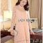 Lady Nara Classic Striped High-Neck Lace Dress L234-79C02 thumbnail 9