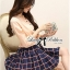 DR-LR-244 Lady Cara Sweet Preppy Girl Checked Dress thumbnail 4