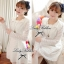 DR-LR-037 Lady Cherish Sweet Feminine Long-Sleeved Lace Dress thumbnail 4