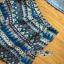 Lady Ashley Tribal Chic Denim Shirt and Printed Skirt Set L180-79C12 thumbnail 7