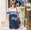 DR-LR-268 Lady Isla Glam Chic Navy Blue Striped Dress thumbnail 4