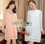 Lady Nara Classic Striped High-Neck Lace Dress L234-79C02 thumbnail 1