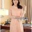 Lady Nara Classic Striped High-Neck Lace Dress L234-79C02 thumbnail 5