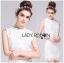 Lady Christine Little Daisy Embroidered White Lace Mini Dress L236-75C01 thumbnail 1