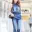 Lady Leslie Sleeveless Collar Studded Zippy Denim Jumpsuit L178-79C07 thumbnail 8