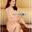 Lady Nara Classic Striped High-Neck Lace Dress L234-79C02 thumbnail 8