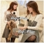 Lady Genna Insert Lace with Houndstooth Dress thumbnail 1