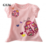 GS36 เสื้อแขนสั้น Size 2T ผ้ายืดอย่างดี หนา นิ่ม ยืดหยุ่น เนื้อผ้าดีมาก ใส่สบาย