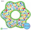 ผ้าซับน้ำลายเด็ก ผ้ากันเปื้อนเด็กเล็ก แบบ 360 องศา ปลายหยักโค้ง - ยี่ห้อ Mom's care / ลาย Multicolored Triangle