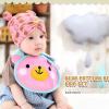 AP155••เซตหมวก+ผ้ากันเปื้อน•• / [สีชมพู] น้องหมี