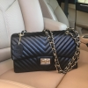 KEEP shoulder chevron chain handbag