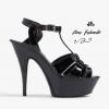 รองเท้าส้นสูงไซส์ใหญ่ John Wayne สีดำ รุ่น KR0280
