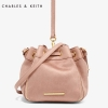 Charles & Keith Drawstring Bucket Crossbody Bag 2017