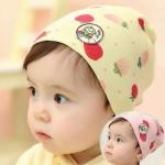 หมวกเด็กอ่อนเกาหลี สตรอเบอร์รี่ สำหรับเด็กวัย 3 - 36 เดือน