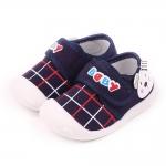 รองเท้าคัชชูเด็กเล็ก สีน้ำเงินลายหมี (เท้ายาว 10-13 ซม.)