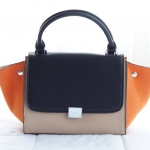 Fashion Outlet Style CL Medium Trapeze Orange with Beige and Black