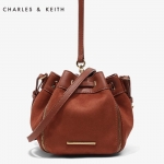 Charles & Keith Drawstring Bucket Crossbody Bag 2017