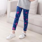 กางเกงเลคกิ้งเด็กหญิง สีน้ำเงินพิมพ์ลายยีนส์ ผ้าเบา นิ่มเด้ง ใส่สบาย (มีขนาดเด็กสูง 80-140 ซม.)