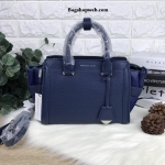 Charles & Keith Structured Trapeze Bag รุ่นหนังคาเวียร์ สีน้ำเงิน