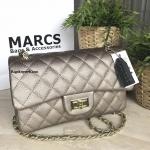 MARCS Woman Quilted Chain Should Bag กระเป๋าสะพายหนังคาเวียร์
