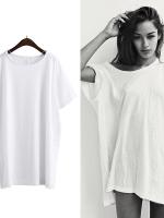 KOREAN OVER-SIZE T-SHIRT เสื้อยืดผู้หญิง เเขนสั้น คอกลม สีขาว งานเกาหลี พร้อมส่ง