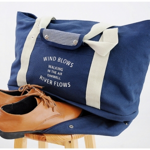 กระเป๋าสะพายผ้าแคสวาส เสียบกระเป๋าเดินทางได้ มีช่องใส่สองชั้นบน-ล่าง กระเป๋าเล็กแยก เหมาะมากสำหรับเดินทาง ท่องเที่ยว มี 9 สีให้เลือก