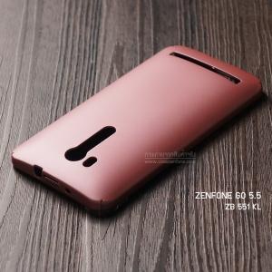 """เคส Zenfone GO TV 5.5"""" (ZB551KL) เคสแข็งสีเรียบ คลุมขอบ 4 ด้าน สีชมพู"""